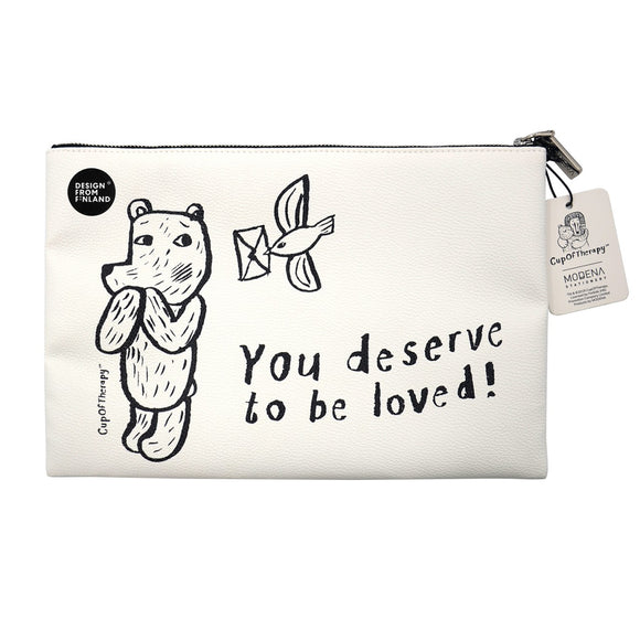 Modena x CupOfTherapy Collection (Design From Finland) Zipper Pouch - You Deserved to be Loved