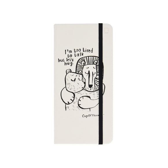 Modena x CupOfTherapy Collection (Design From Finland) Sketchbook - I'm Too Tired to Talk but Let's Hug