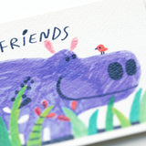 Hippo - Bestest Friends Postcard 最好朋友河馬明信片