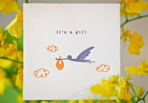 Delivery Stork - Girl - The Tree Stationery & Co. 大樹文房
