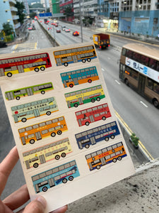 Hong Kong bus masking tape 香港巴士紙膠帶