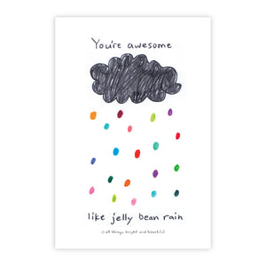 Jelly Bean Rain Postcard 糖果雨明信片
