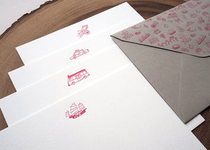 Get Around Hong Kong Notecard *special edition red* - The Tree Stationery & Co. 大樹文房