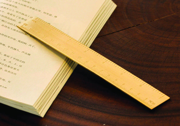 Vintage Brass Ruler Bookmark