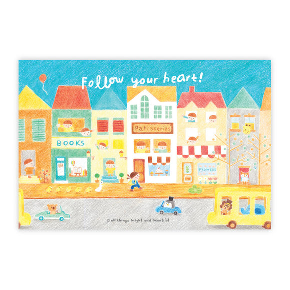 Follow your heart Postcard 跟隨你的心明信片