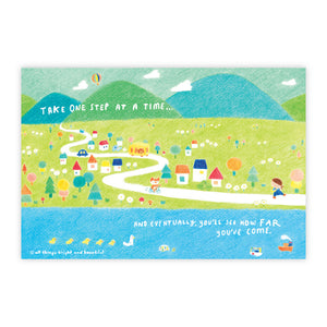 One step at a time Postcard 一步一步明信片