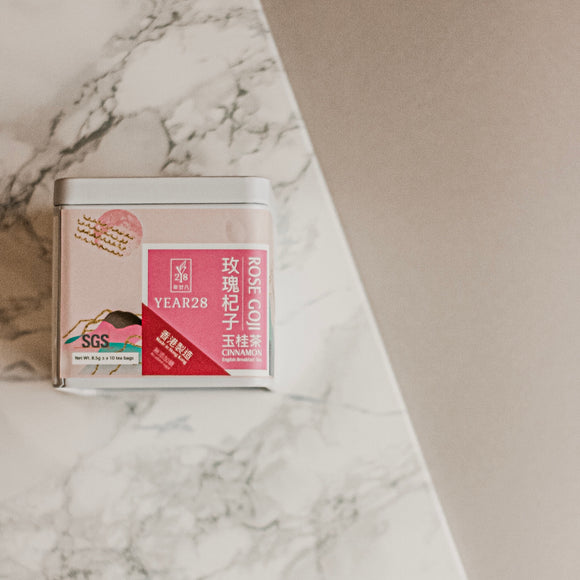Rose Goji Cinnamon English Breakfast Tea (10 tea bags) 玫瑰杞子玉桂茶 (10個茶包)