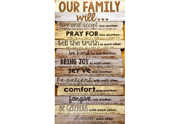Our Family will...