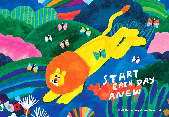Start Each Day Anew Postcard