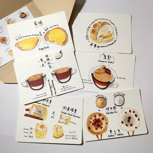 Talk about Good Food in HK Style Cantonese Vol. 2 Postcard Set of 6 with Envelope & Sticker