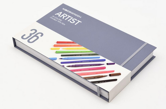 Artist 36-color Double Tip Pen Drawing Set ARTIST 36色雙頭水彩筆套裝