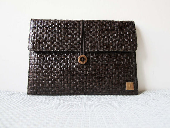 Dark Brown Grass Woven ipad mini sleeve (6