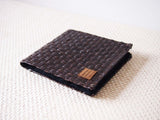 Handmade Dark Brown Grass Woven Wallet 手造深啡草織錢包