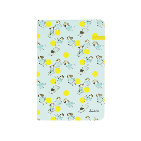 Modena Designer Notebook - Dodolulu Collection: Blue / Ruled 追月的人