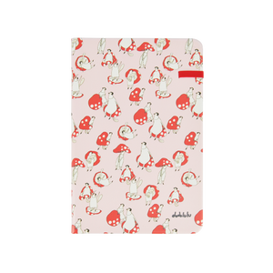 Modena Designer Notebook - Dodolulu Collection: Red / Dotted 蘑菇菇