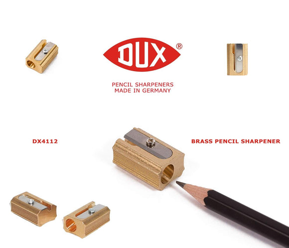 DUX Brass Pencil Sharpener - Block-shaped
