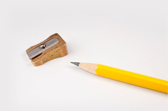 DUX Brass Pencil Sharpener - Wedge-shaped
