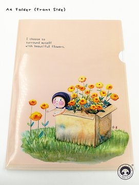 小半A4 Folder - I Choose to Surround Myself with Beautiful Flowers