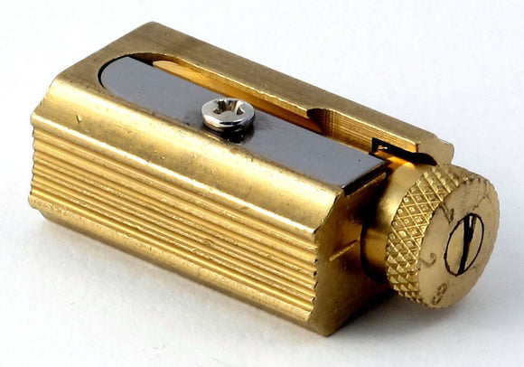 Adjustable Brass Pencil Sharpener w/Leather Case - The Tree Stationery & Co. 大樹文房