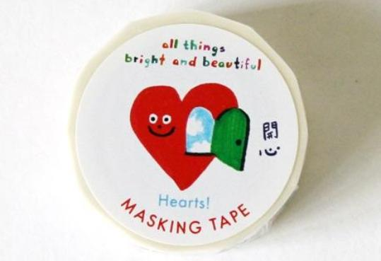 Hearts! Masking Tape Set 心!紙膠帶 - The Tree Stationery & Co. 大樹文房