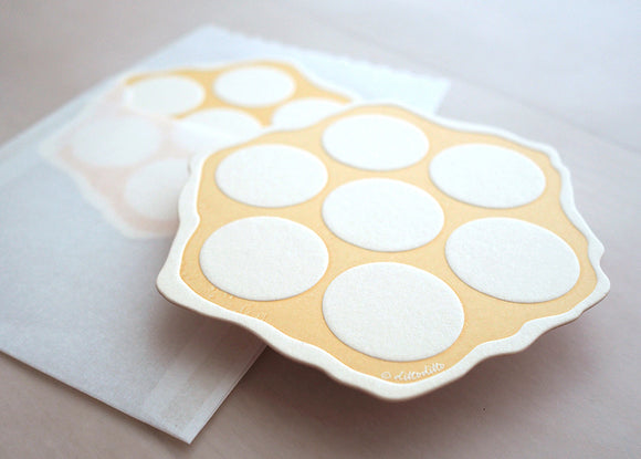 Letterpress Food Notecard - Egg Puffs