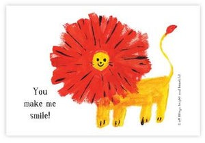Lion - Smile Postcard 微笑獅子明信片 - The Tree Stationery & Co. 大樹文房