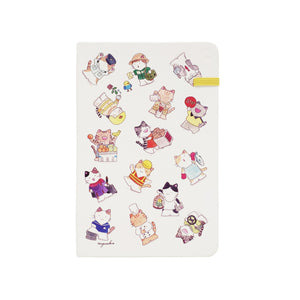 Modena Designer Notebook - Mango Naoko Collection: Professor Cats / Plain
