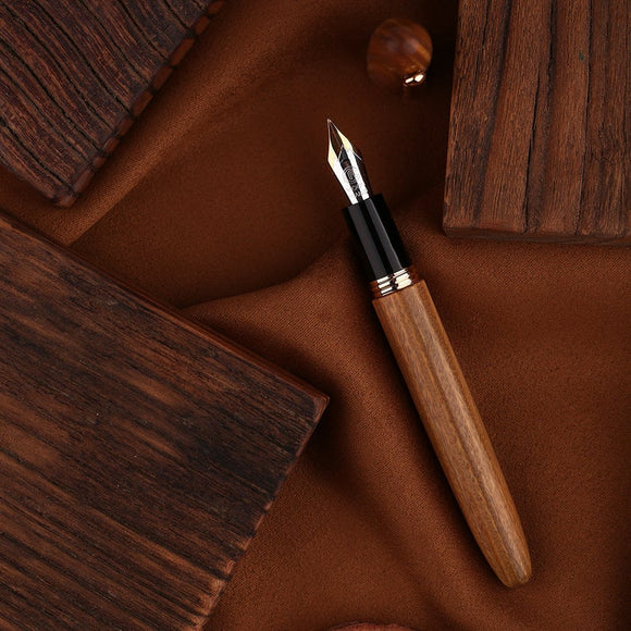 Moonman M6 Handmade Natural Wood Fountain Pen (Fine Nib) 末匠M6人手製實木鋼筆 (細筆尖)