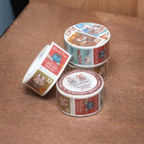 Washi Masking Tape - Mocha Break Stamp-Style 和紙膠帶 ╴Mocha Break 郵票款 (2.5cm x 10m)