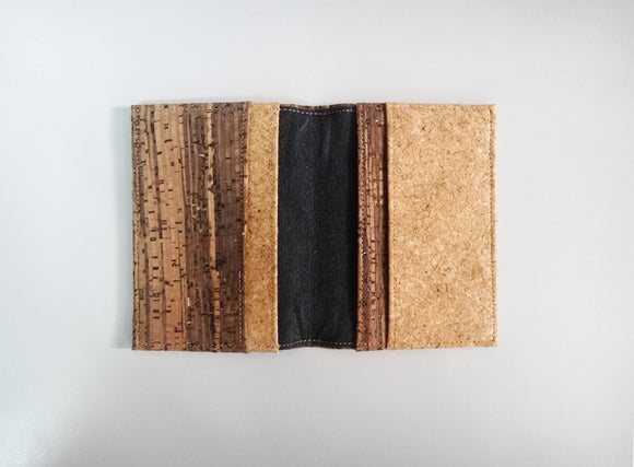 Naturaism Mixed Cork Bifold Card Holder 自然主義 軟木拼木紋卡包