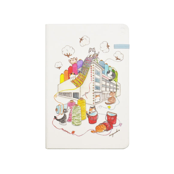 Modena Designer Notebook - Mango Naoko Collection: Cats @The Mills / Ruled