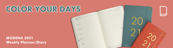 Color Your Days - 2021 Weekly Planner / Diary