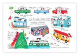 Getting around Hong Kong Postcard 香港走走明信片 - The Tree Stationery & Co. 大樹文房