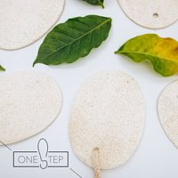 OneSTEP Natural Loofah Washing Sheet (5 pieces) 天然絲瓜絡清潔片 (5片裝)