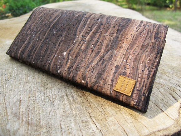 Wooden Grain Cork Long Wallet 手造木紋軟木長錢包