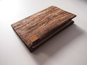 Wooden Grain Cork Passport Cover 木紋軟木護照夾