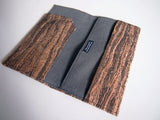 Wooden Grain Cork Long Passport Holder 木紋軟木長護照夾