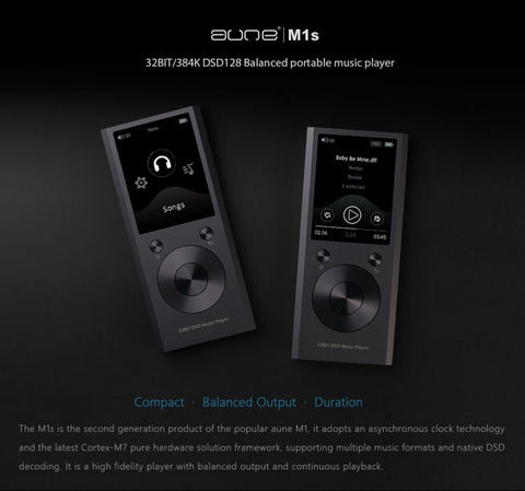 Aune m1s hifi music player