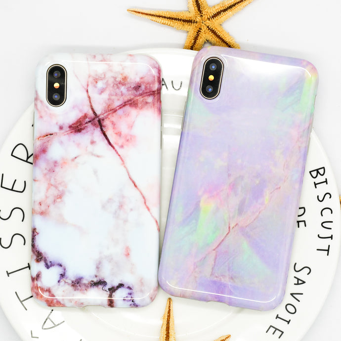LOVECOM Hot Granite Marble Texture Phone Case For iPhone 6 6S 7 8 Plus X Soft IMD Full Body Back Cover Mobile Phone Bags & Case