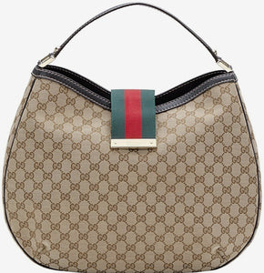 e1150188379c46 Gucci Monogram Canvas Large Hobo Tote - CHIC Kuwait Luxury Outlet
