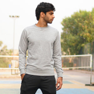 DaDa Basic Heather Grey Sweatshirt