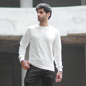 DaDa Basic Core White Sweatshirt