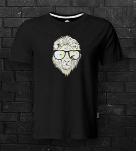 DTG #HipsterLion Black Tee - theDaDaist