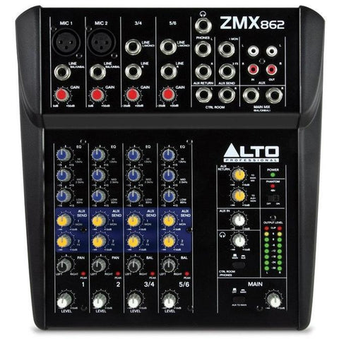 Alto Professional ZMX862 Zephyr Series 6-Channel Compact Mixer