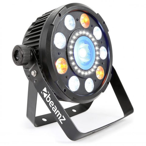 BEAMZ BX94 PAR 64 WITH COB LED AND STROBE 9X 6W 4-1 RGBW LEDS