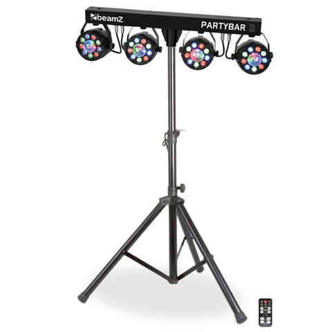 BEAMZ PARTBAR3 4X PAR 9X 1W RGBW, 4 X MAGIC BALL