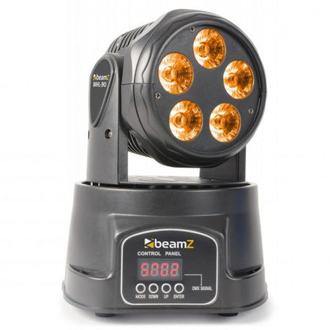 BeamZ MHL-90 LED Mini Moving Head Wash 5x18W RGBAW UV LEDS DMX