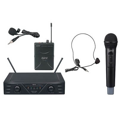 Hybrid Mini DF Hand + Headset/Lapel - Dual Microphone System