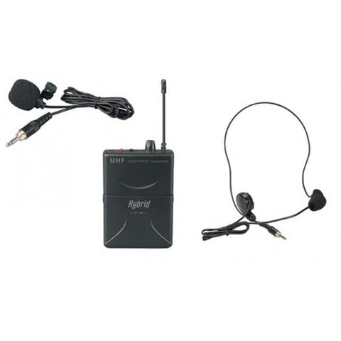 Hybrid Mini SF Headset/Lapel - UHF Single Headset/Lapel Microphone
