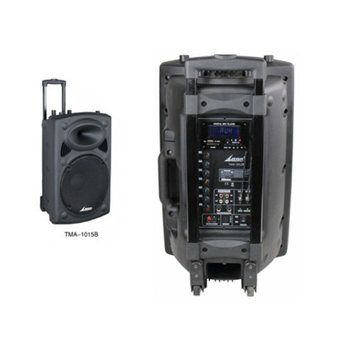 LANE TMA-1015B - Battery Powered Portable PA Speaker with Bluetooth & 2 Cordless Mics